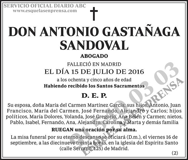 Antonio Gastañaga Sandoval